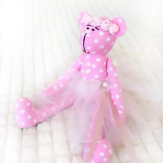 Свадебный мишка Тильда игрушка подарок на свадьбу девичник