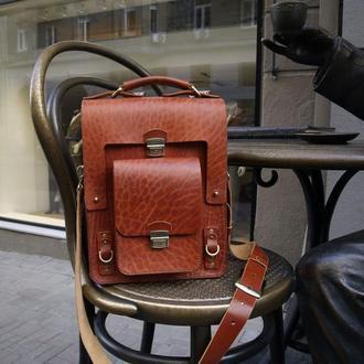Мужской портфель из ременной кожи