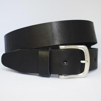 Lord черный кожаный мужской ремень кожанный пояс для джинсов пасок ремінь