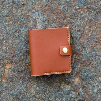 Кожаный бумажник с монетницой, кошелек для карточек и монет, мужской кошелек, подарок для парня