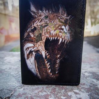 Обложка на паспорт Тираннозавр, крутая обложка, яркая обложка на паспорт, купить обложку на паспорт