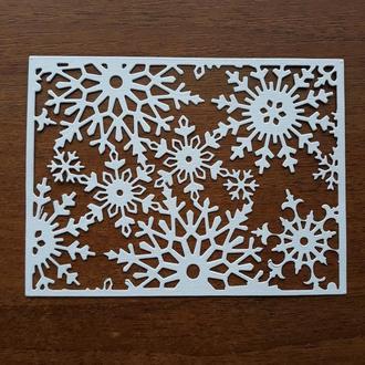 Вырубка Рамка из снежинок 1, Высечки, декор для скрапбукинга