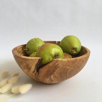 Мисочка з дерева, фруктовниця, цукерниця
