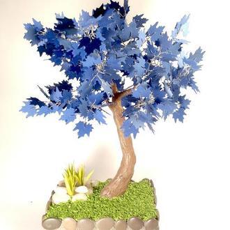 """Декоративное дерево-бонсай """"Синий клен"""""""
