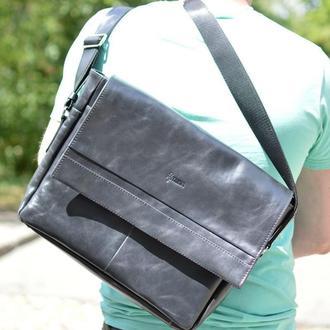 Мужская кожаная сумка через плечо TA-7742-4lx TARWA