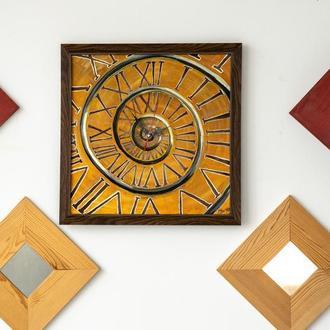 """Картина-часы """"Римские часы"""", 40х40 см + часовой механизм встроенный + рама"""