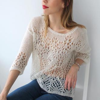 Мастер-класс по вязанию: Ажурный свитер