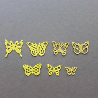 Набор Картонной вырубки ажурные бабочки