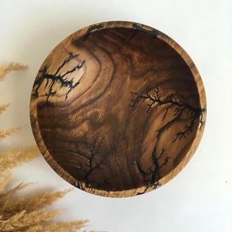 Тарілочка з дерева, ключиця, фруктовниця