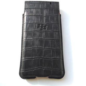 Чехол (карман) для смартфона BlackBerry Key2 из итальянской кожи