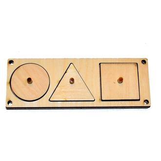 Заготовка рамка вкладыш 3 геометрические фигуры для бизиборда дерев'яні вкладиши для бізіборда Заго