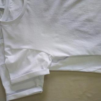 Белые футболки хлопковые