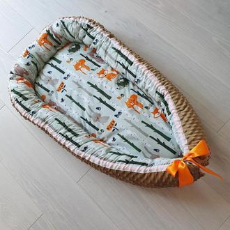 Кокон для ребенка (гнездышко, бебинест) Woodland