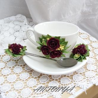 Чайный набор с розами