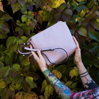 Женская сумка из итальянской кожи, 72 цвета на выбор