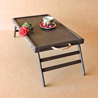 Столик-поднос с ручками Техас Экостиль венге