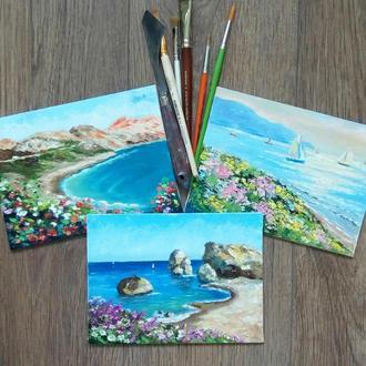 """Картины маслом, миниатюры, """"Путешествие по Кипру """" - кол. 3"""