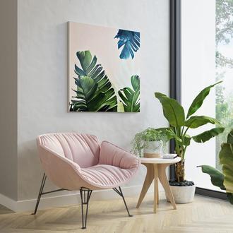 """Картина """"Пальмовые листья"""" 50х50. Холст/масло"""