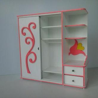 Шкаф купе для кукол барби. Мебель для кукол