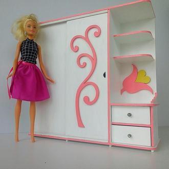 Шкаф купе для кукол барби. Кукольная мебель