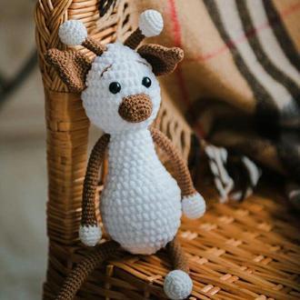 Жираф, мягкая игрушка, вязаная игрушка, амигуруми