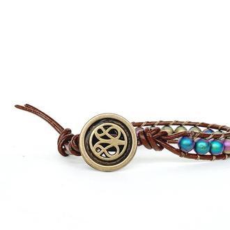 Спиральный браслет  чан лу chan luu из натуральных камней. гематит
