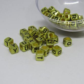 Буквы акрил золото  6 мм