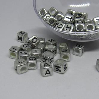 Буквы акрил серебро 6 мм