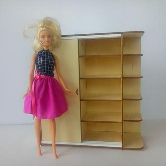 Шкаф купе для Барби . Мебель для кукол. Мебель для барби