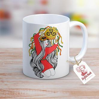 Магия и гармония Вселенной - дизайнерская чашка с авторским рисунком