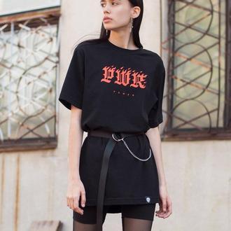 Длинная футболка PWR (power) с поясом