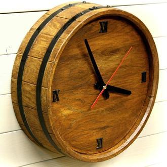 Часы настенные Seven Seasons™ Old barrel тёмный дуб 33 см