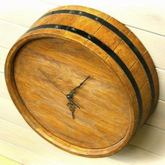 Настенные часы  без циферблата Seven Seasons™ Old barrel тёмный дуб 33 см