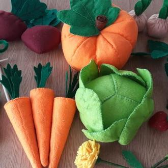 Овощи (огород) из фетра