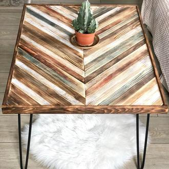 Эксклюзивный Журнальный / Кофейный Столик из натурального дерева. АВТОРСКАЯ ТЕХНИКА