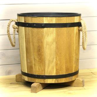 Деревянная кадка с пластиковой вставкой для цветов Seven Seasons™ 17 литров