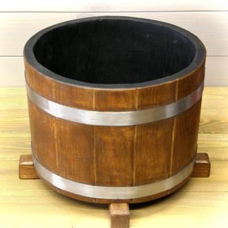 Деревянная кадка для цветов Seven Seasons™ Old Barrel Орех 5 литров