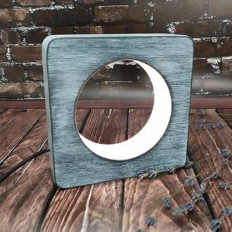 Дерев'яний led світильник-нічник з плавним регулюванням яскравості
