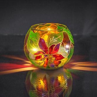 Стеклянная ваза-подсвечник HAND MADE (AA-CD-007)