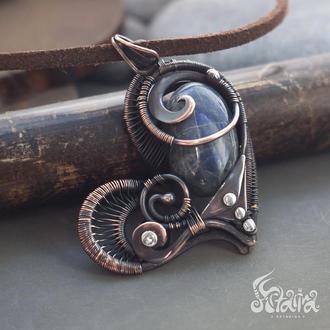Сердце // Кулон сердце // кулон с натуральным камнем // Кулон любимой // Freydís // Кулдон сердечко
