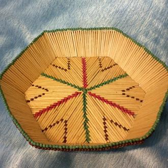 Декоративная тарелка из спичек