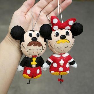 малюки Диснеївські мишата - Міккі та Мінні, авторська іграшка