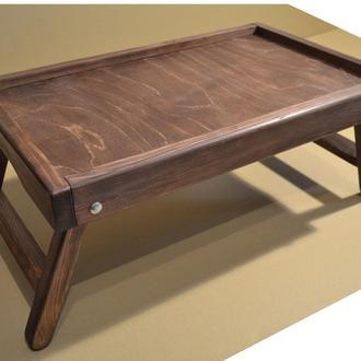 Столик для ноутбука и завтрака в постель - каштан
