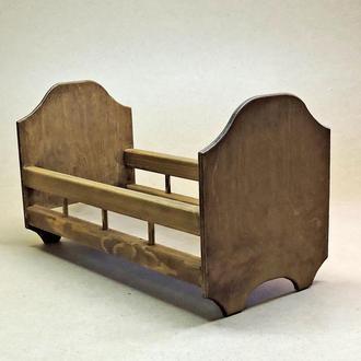 Кровать для кукол Рапунцель капучино