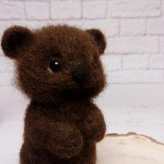 Игрушка мишка. Медведь. Мишка валяный. Мишка на заказ