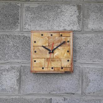 Часы под мрамор, настенные часы в современном дизайне, необычные настенные часы, деревянные часы