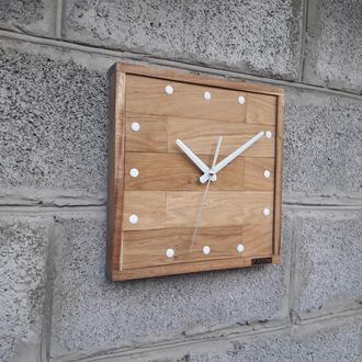 Часы из дуба, необычные настенные часы, деревянные часы