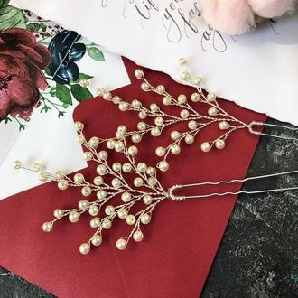 Шпильки с жемчугом свадебные шпильки