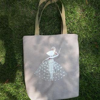 """Эко сумка для покупок """"Мышка балерина"""""""