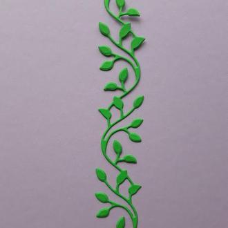 Вырубка для срапбукинга  бордюр из листьев, декор для скрапбукинга